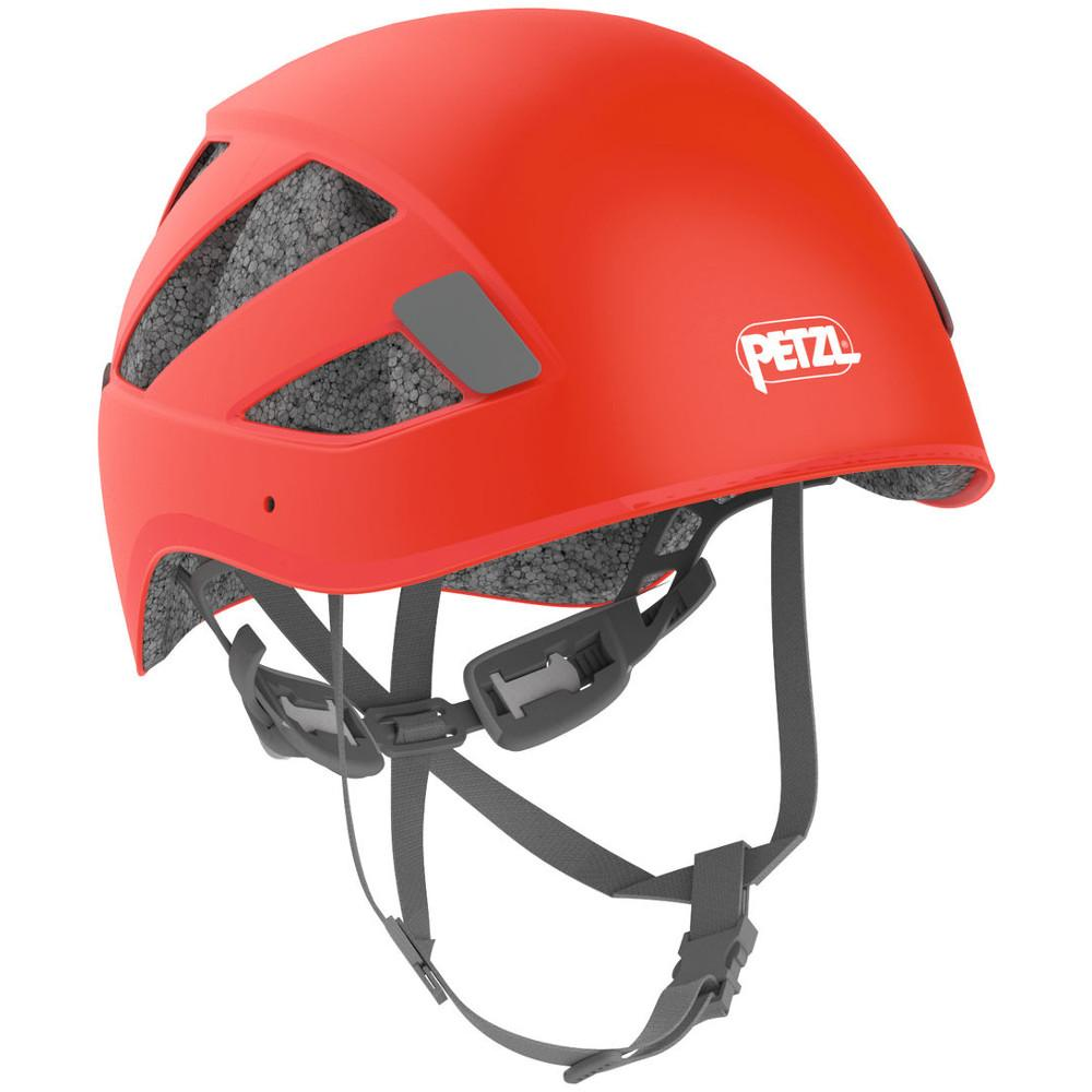 Petzl Boreo multi-activity helmet, front/side view shown in red colour