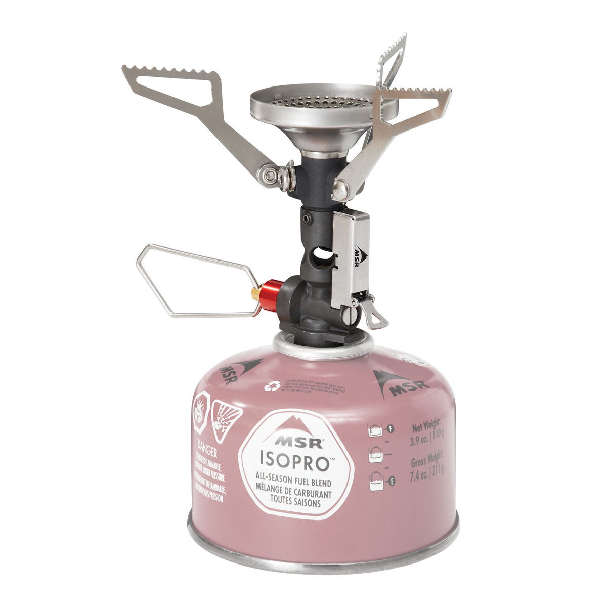 MSR Pocket Rocket Deluxe camping stove, front view