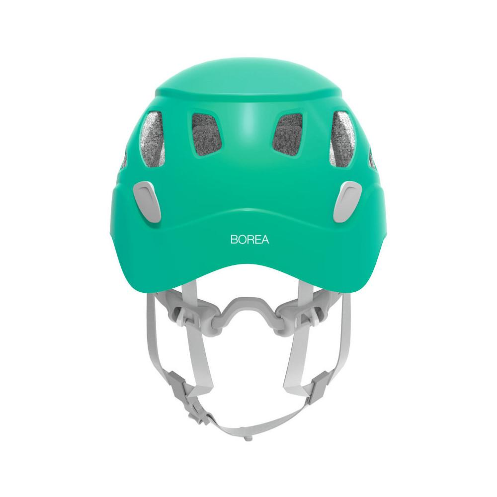 Rear of Petzl Borea helmet in Green