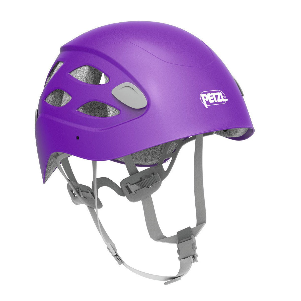 Petzl Borea multi-sport helmet, front/side view in purple colour