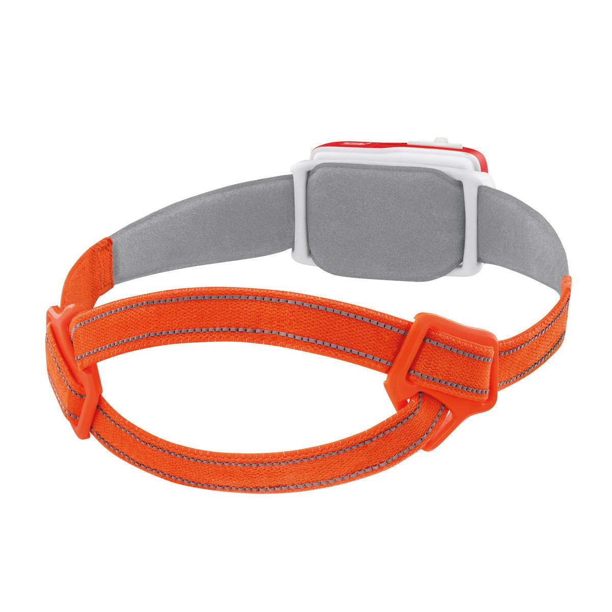 Rear of the Petzl Swift RL Headtorch in orange