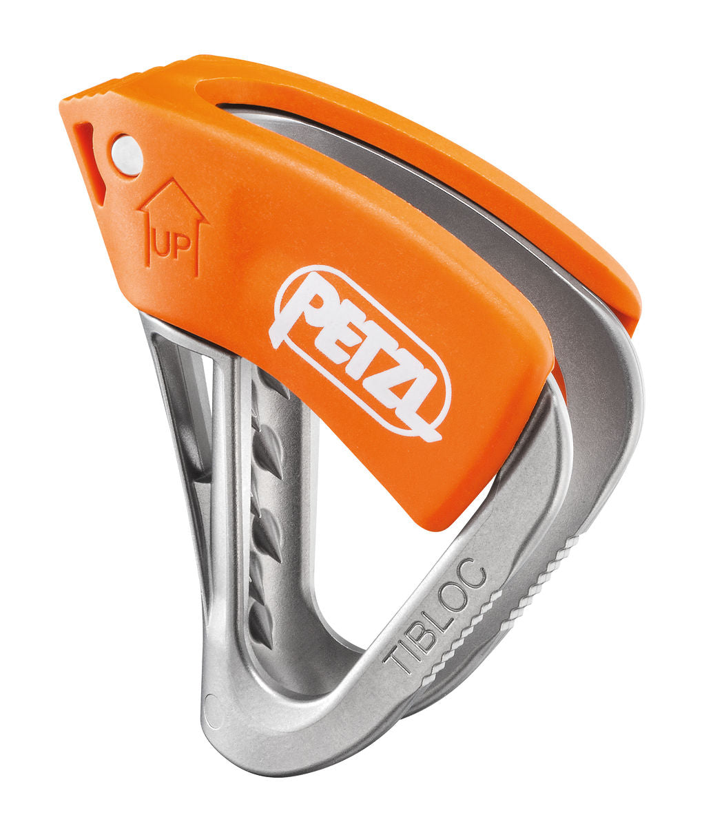 Petzl Tibloc ascender, in orange and silver colours