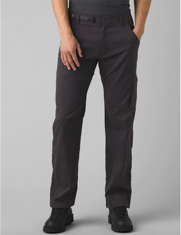 Prana Stretch Zion Pant, Charcoal, Front