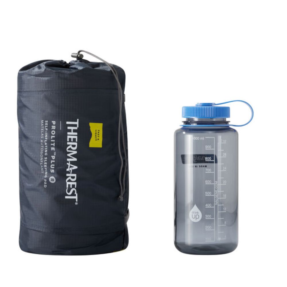Thermarest ProLite Plus packed up next to nalgene