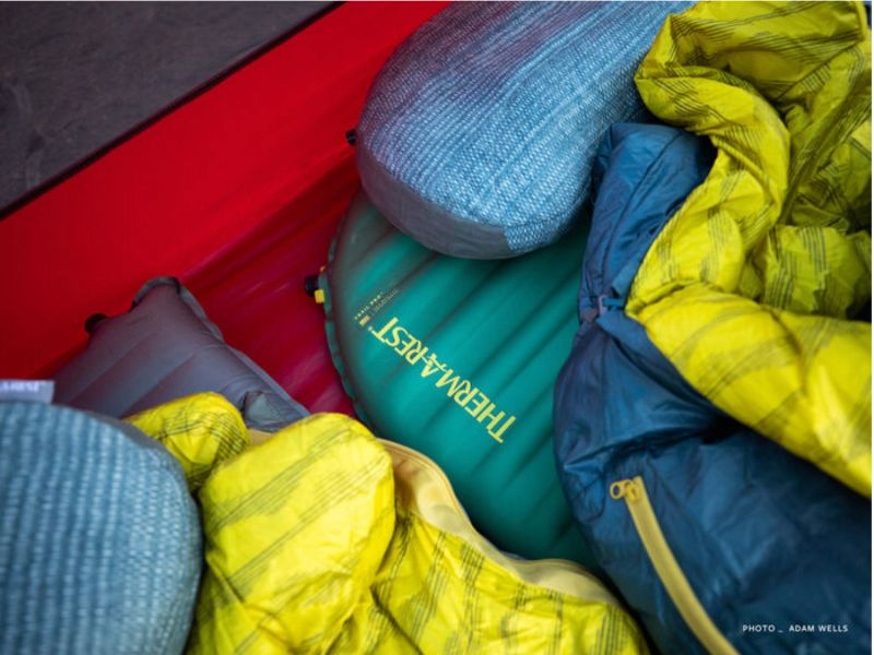 Thermarest Trail Pro under thermarest sleeping bags