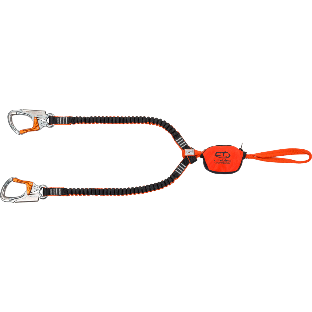Climbing Technology Top Shell Slider via ferrata Set showing slider, lanyards and carabiners