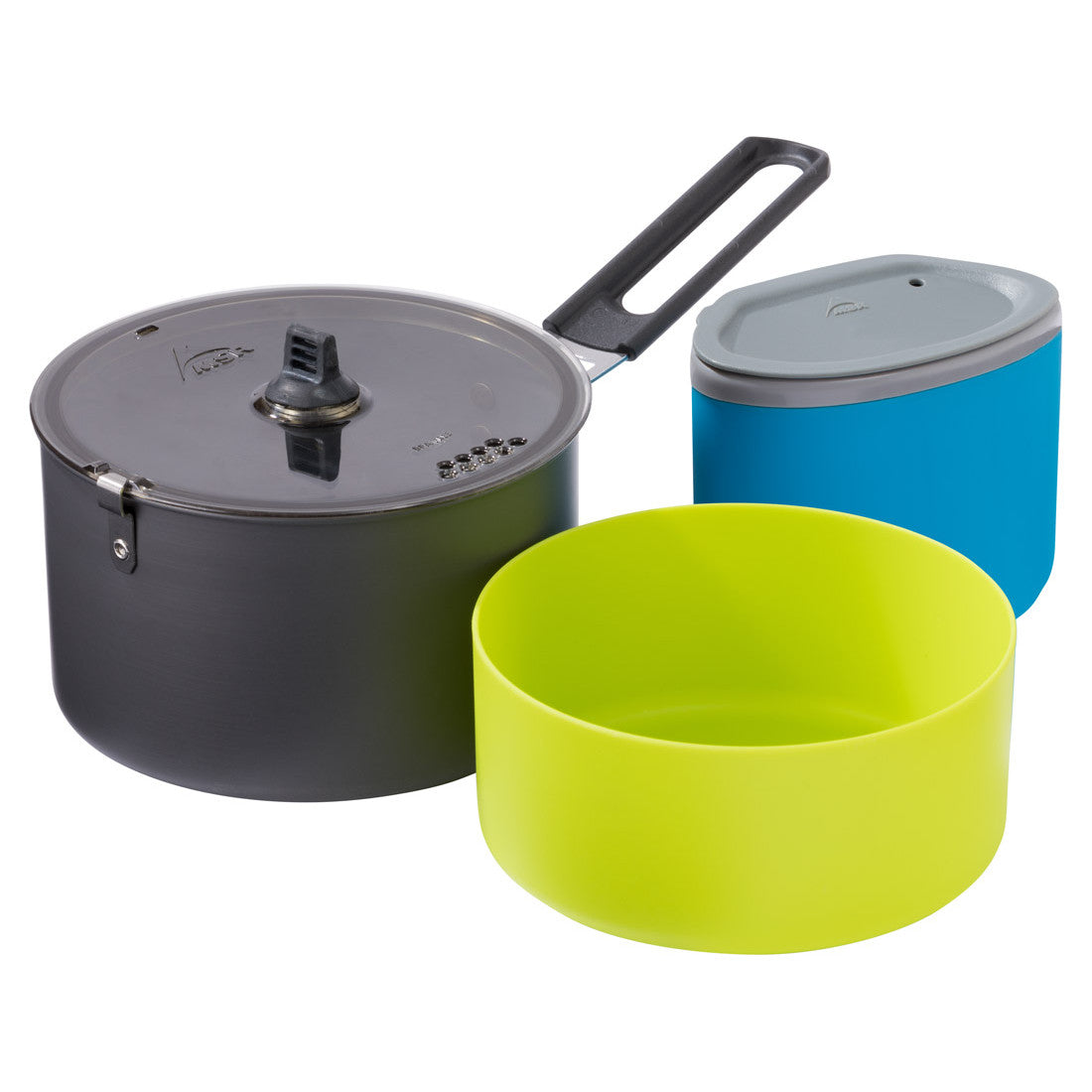 MSR Trail Lite Solo Cook Set, showing all components together