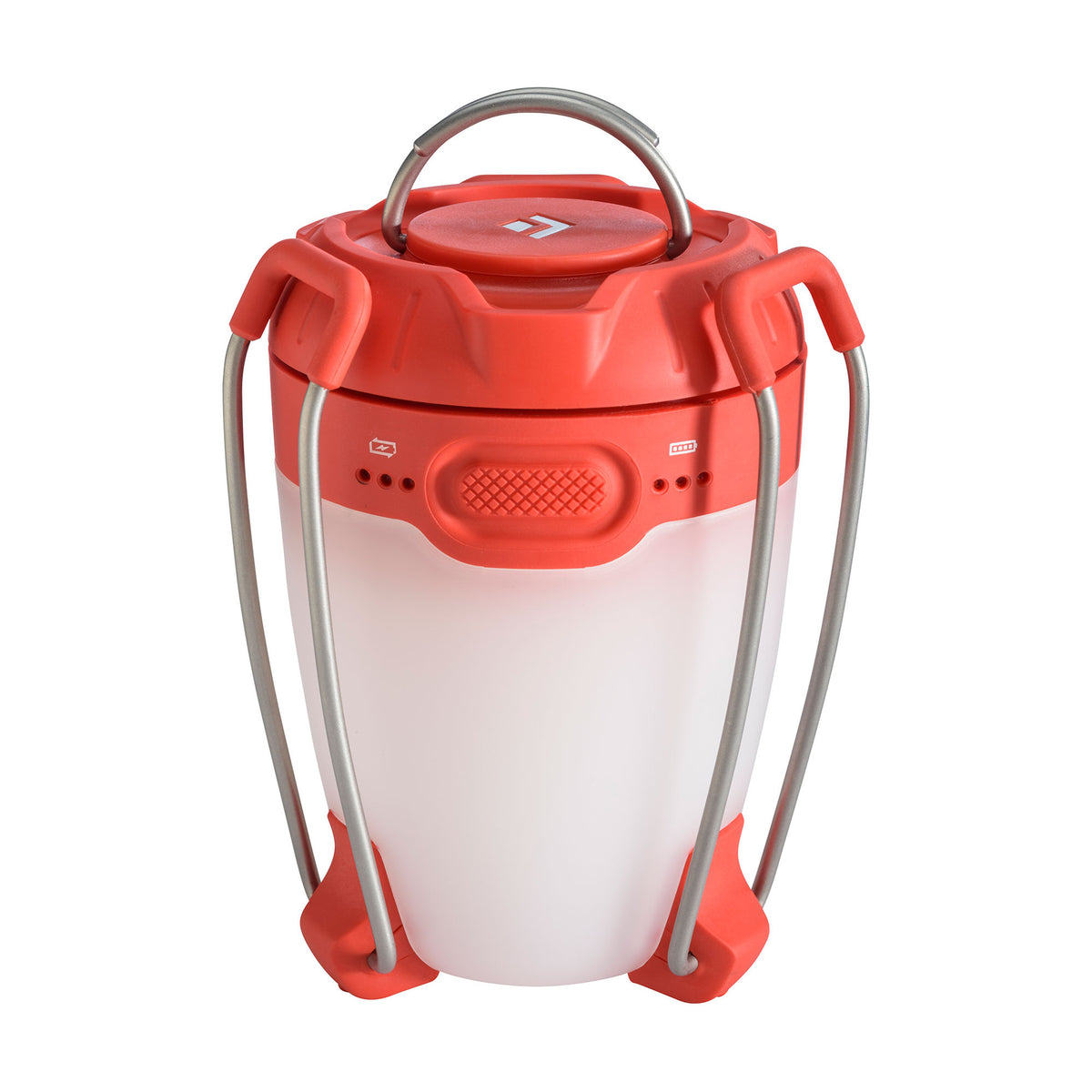 Black Diamond Apollo camping lantern, shown with legs folded up for storing