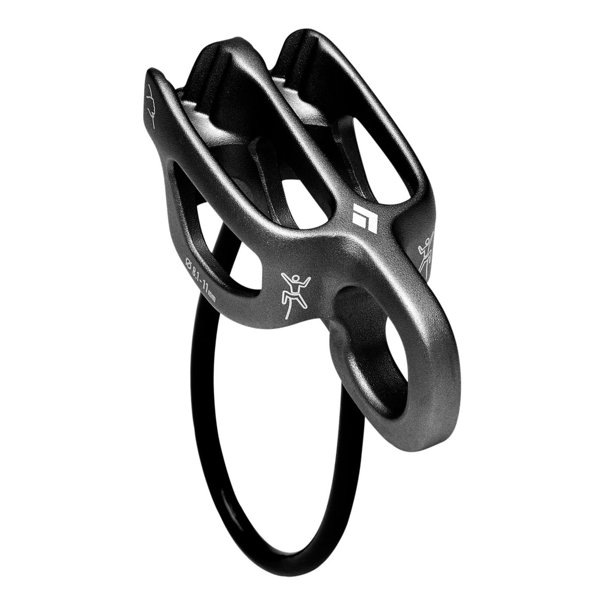 Black Diamond ATC Guide belay device, in gun metal grey colour