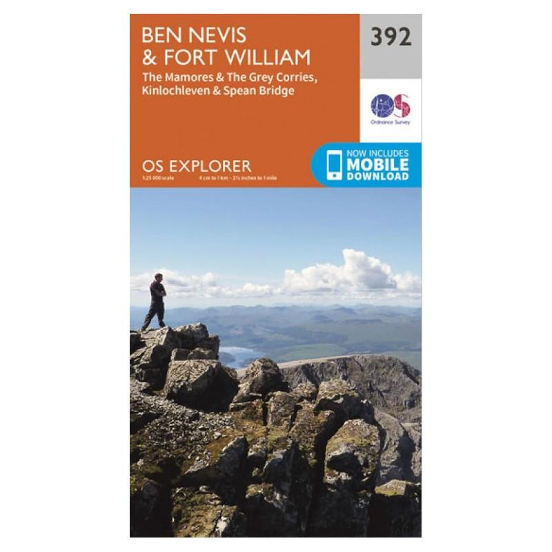 Ben Nevis and Fort William - OS Explorer Map 392