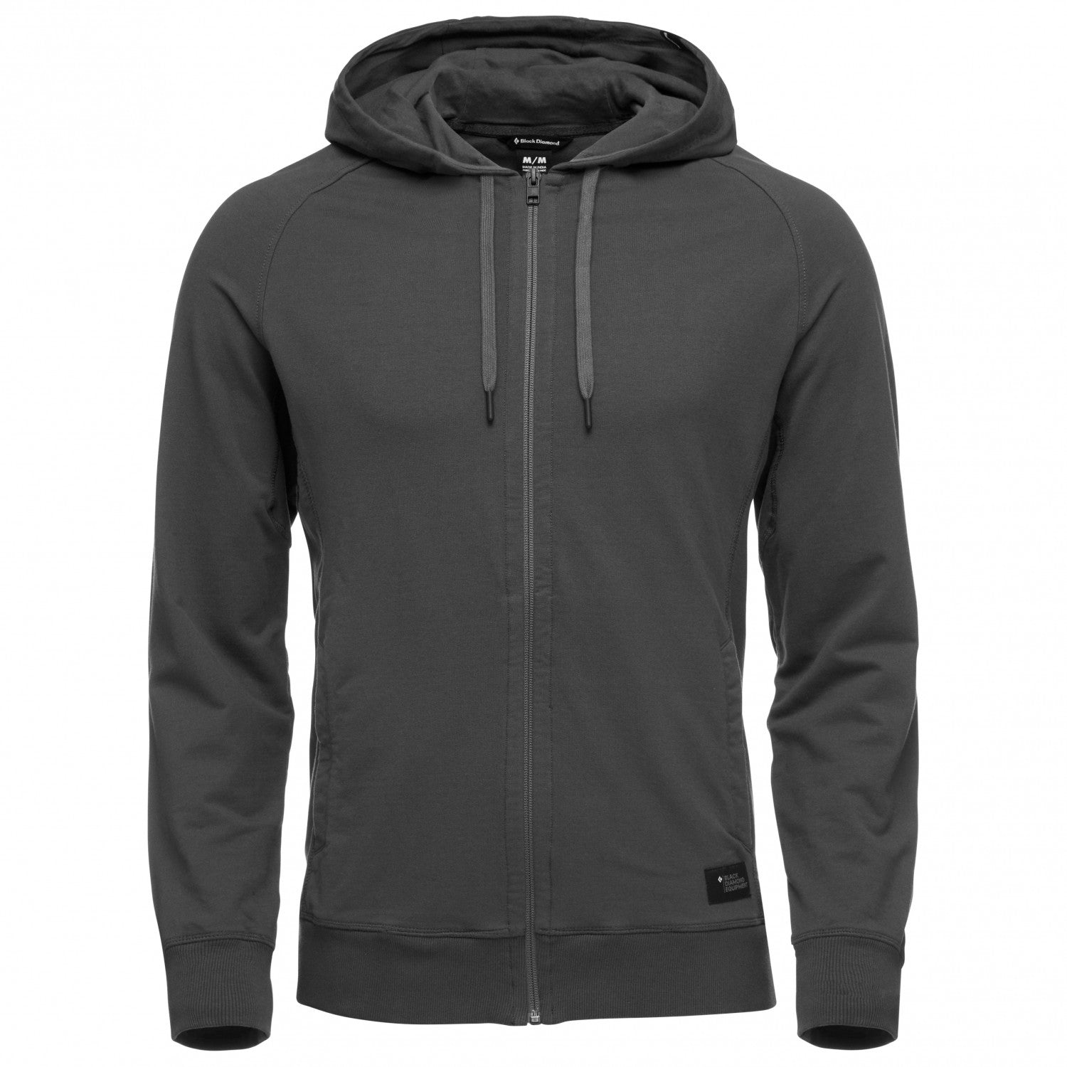 Black Diamond Basis Full Zip in dark grey anthracite