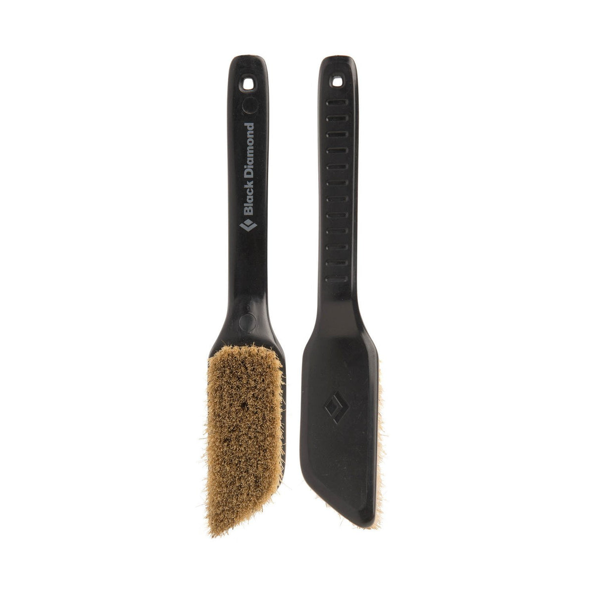 Pair of black Black Diamond Boars Hair Brushes - Medium, 1 shown facing and 1 shown in the reverse