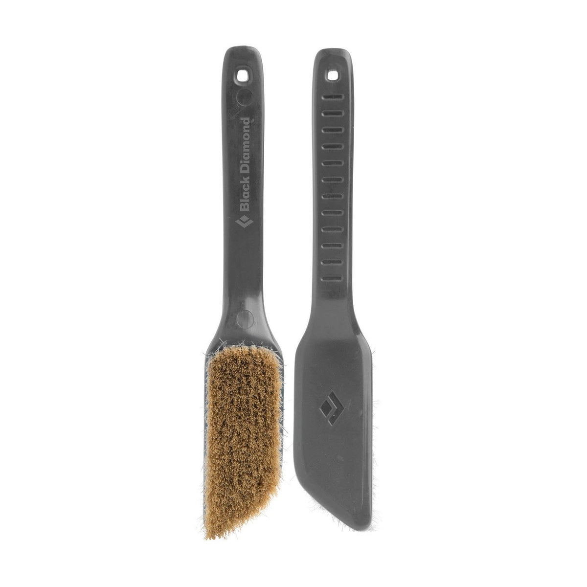 Pair of grey Black Diamond Boars Hair Brushes - Medium, 1 shown facing and 1 shown in the reverse