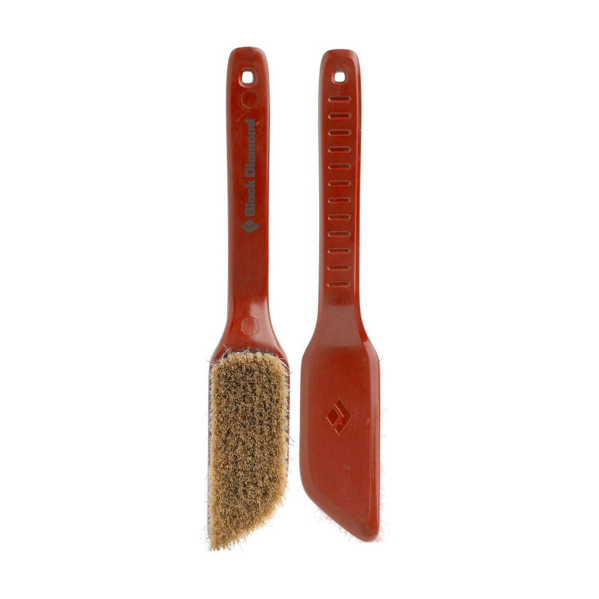 Pair of red Black Diamond Boars Hair Brushes - Medium, 1 shown facing and 1 shown in the reverse