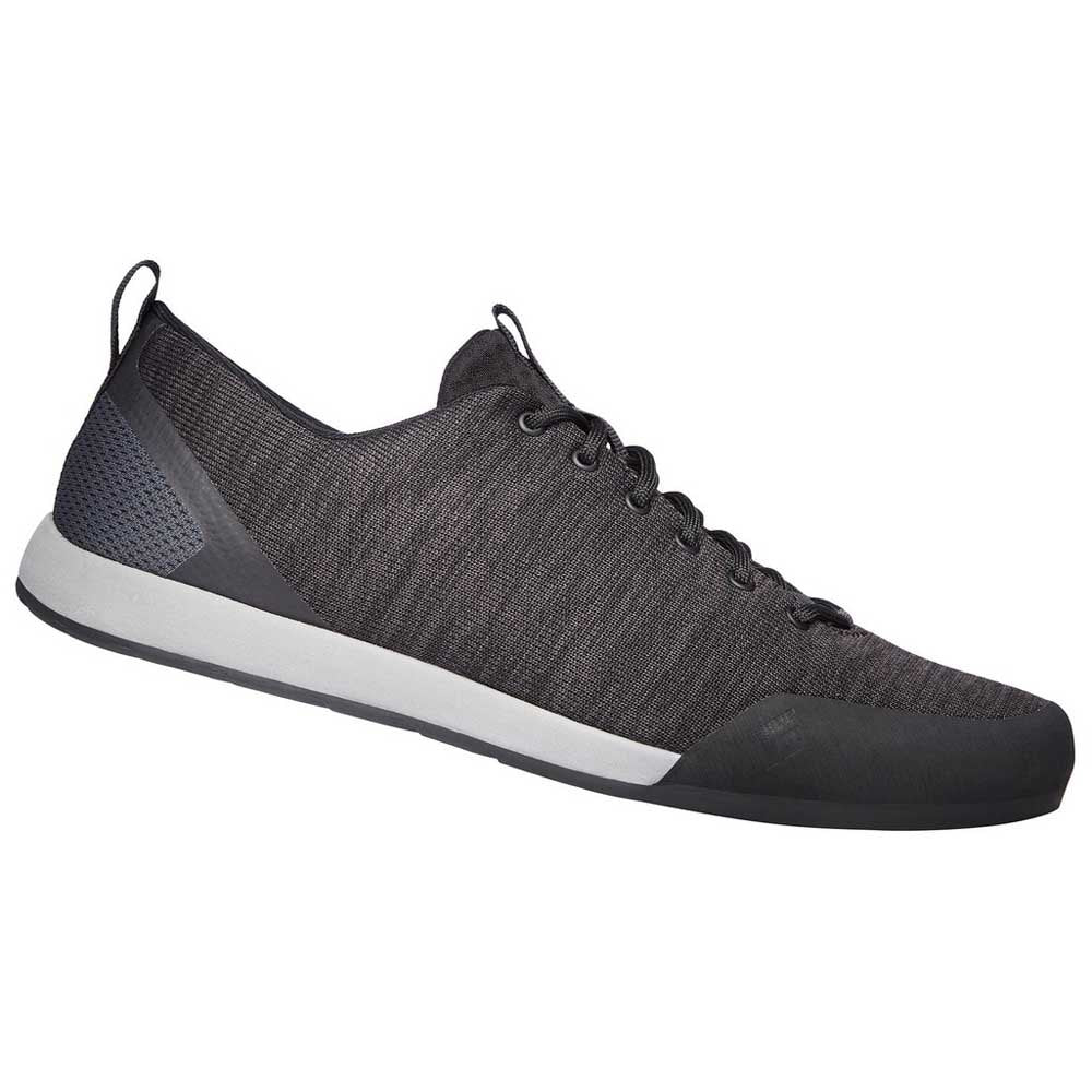 Black Diamond Mens Circuit approach shoe in Dark Grey side angle