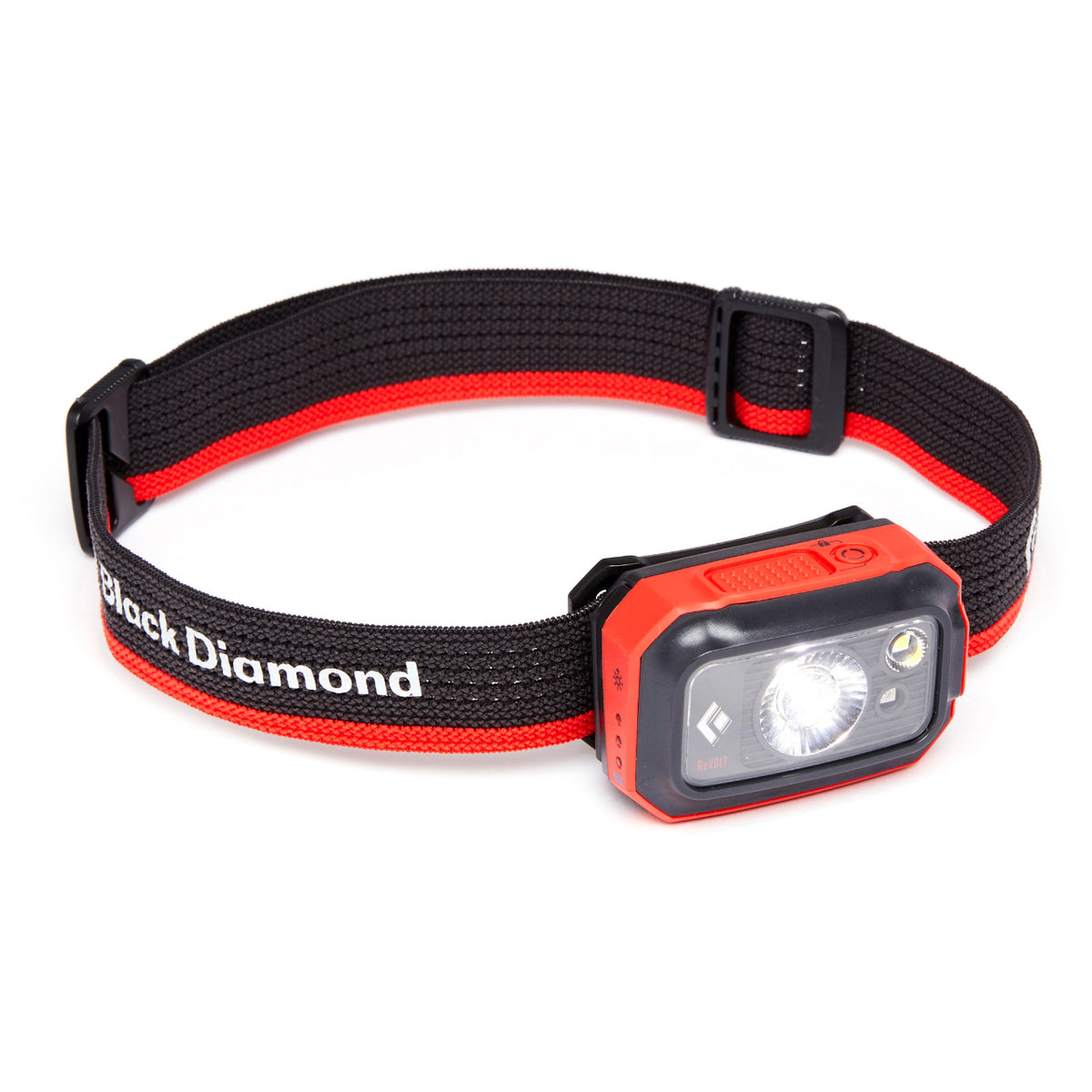 Black Diamond Revolt 350 Headlamp, front/side view in Octane colour