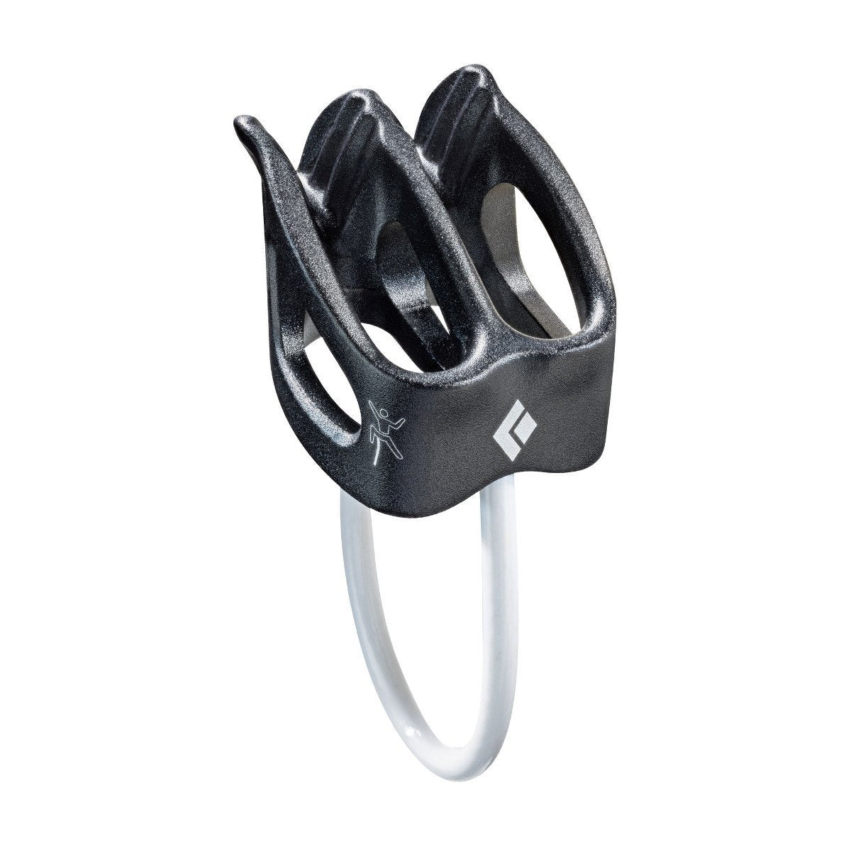Black Diamond ATC XP belay device, in gun metal grey colour