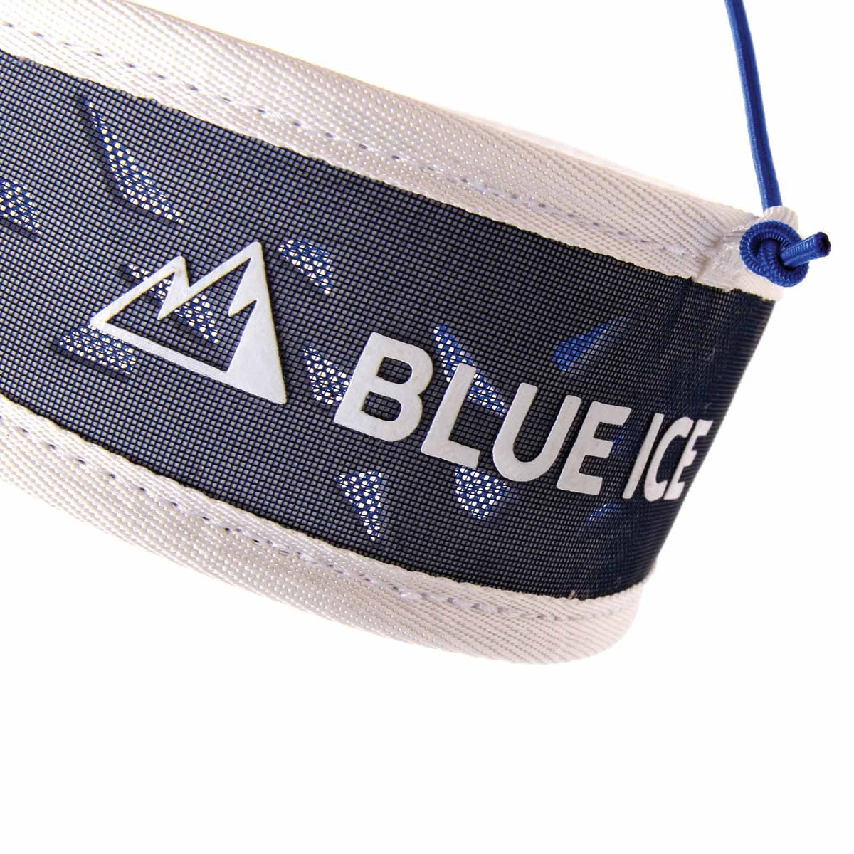 Blue Ice Addax Harness, close up of the logo