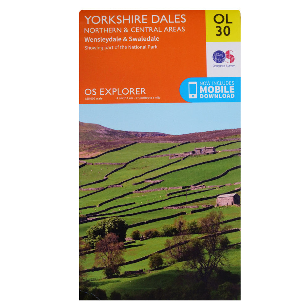 Yorkshire Dales Northern and Central OL30 Front Cover
