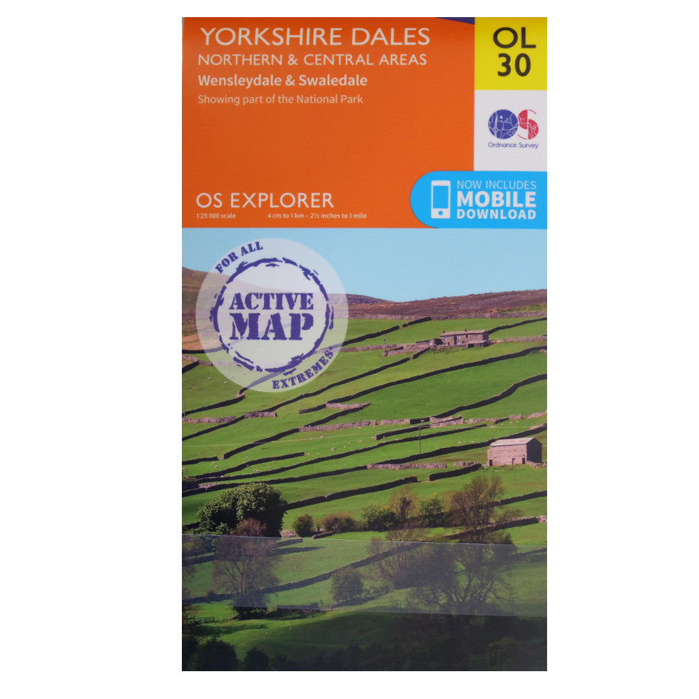 Yorkshire Dales Northern and Central OL30 Active Front Cover