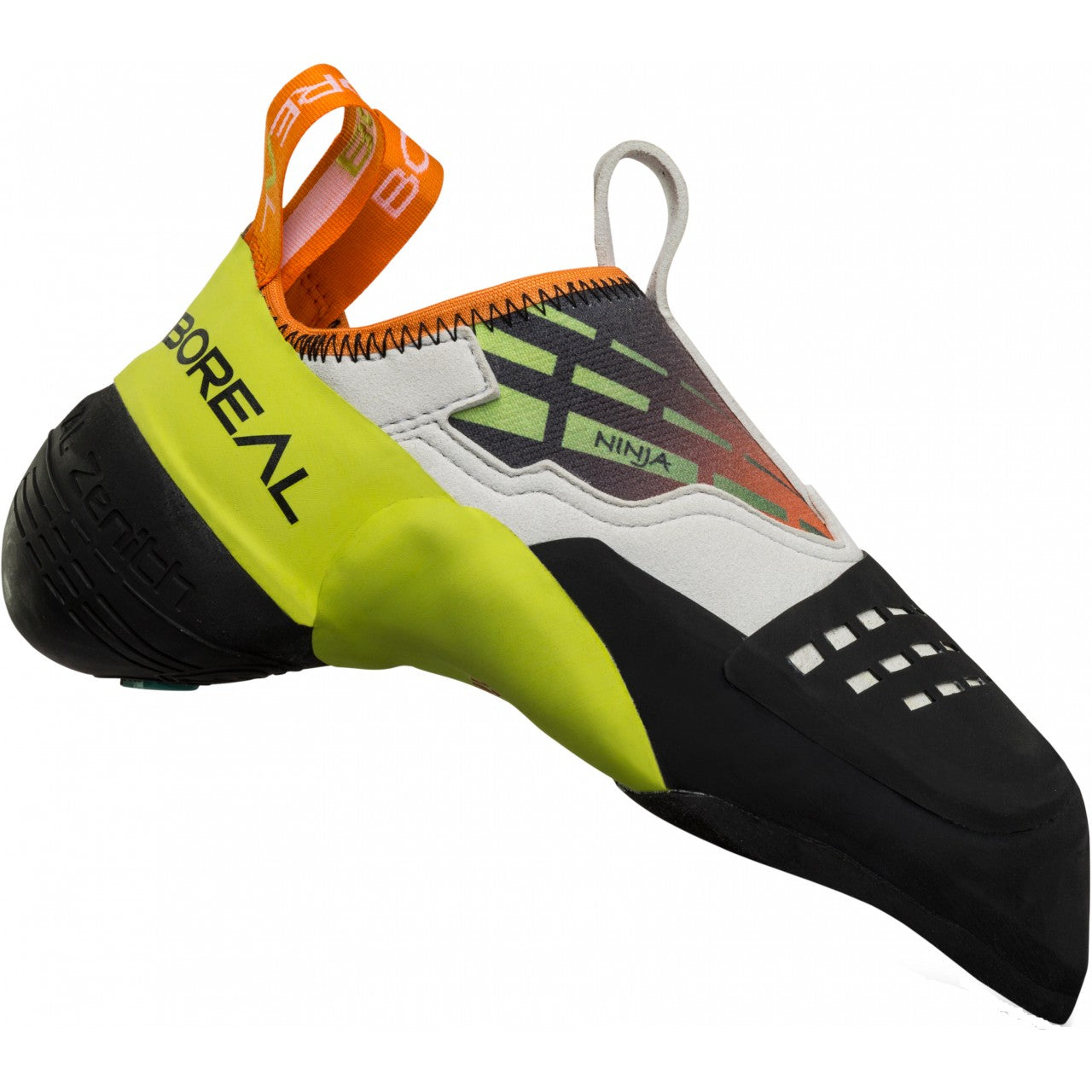 Boreal Ninja climbing shoe, outer side view