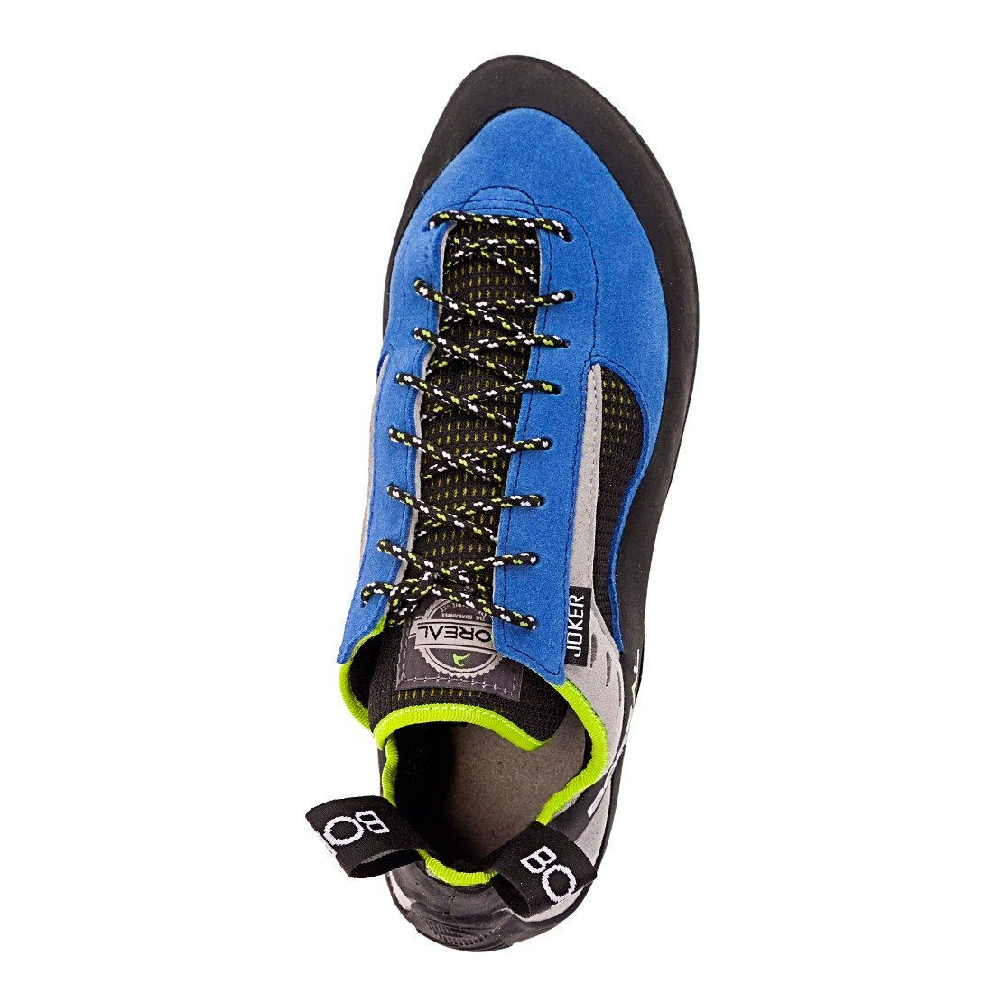 Boreal Joker Lace climbing shoe, view from above