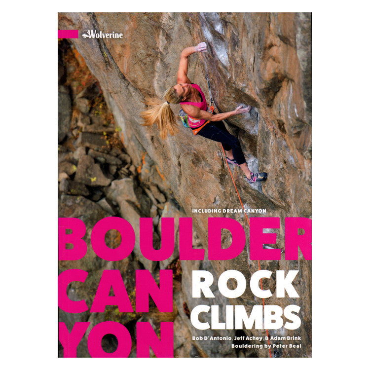 Boulder Canyon Rock Climbs guidebook, front cover