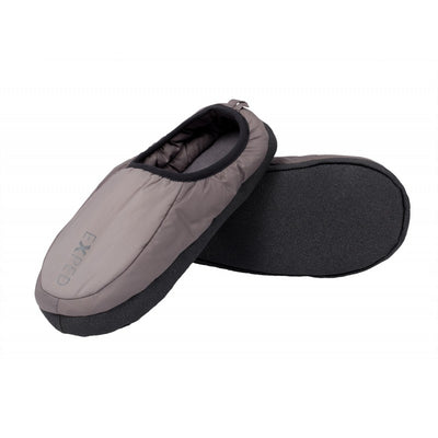 Exped Camp Slippers, inner side view in grey colours with grey sole