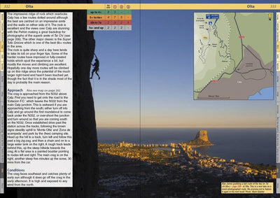 Spain: Costa Blanca guide, example inside pages showing photos and maps