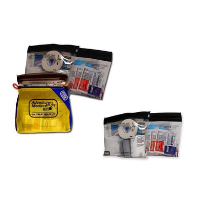 Adventure Medical Kits Ultralight and Watertight 7, showing contents and casing