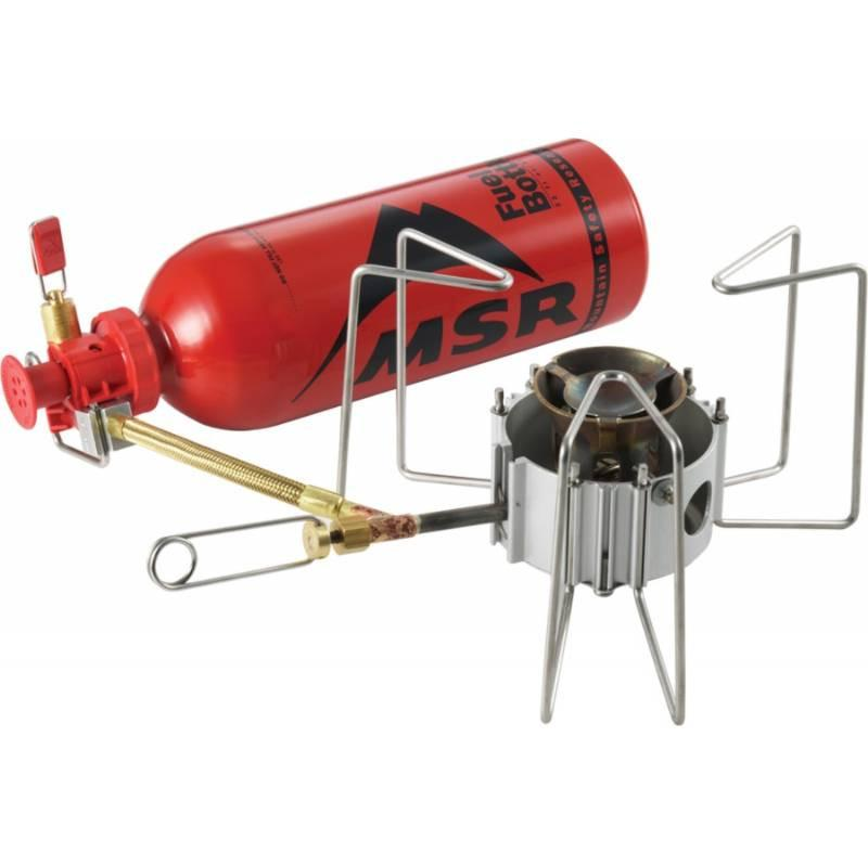 MSR Dragonfly camping Stove and fuel bottle