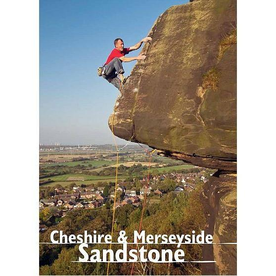 Cheshire and Merseyside Sandstone climbing guidebook, front cover