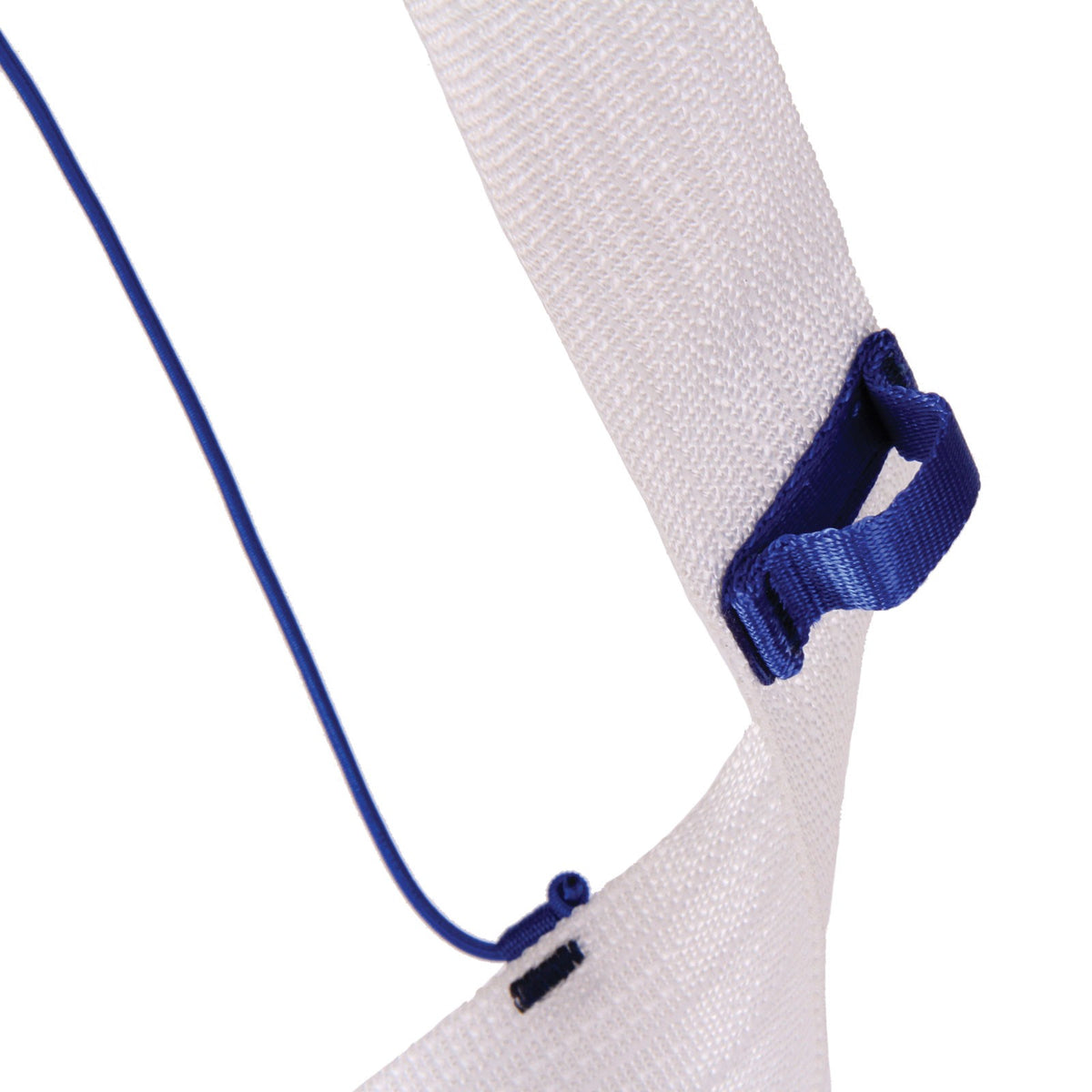 Close up of the Blue Ice Choucas Harness leg strap