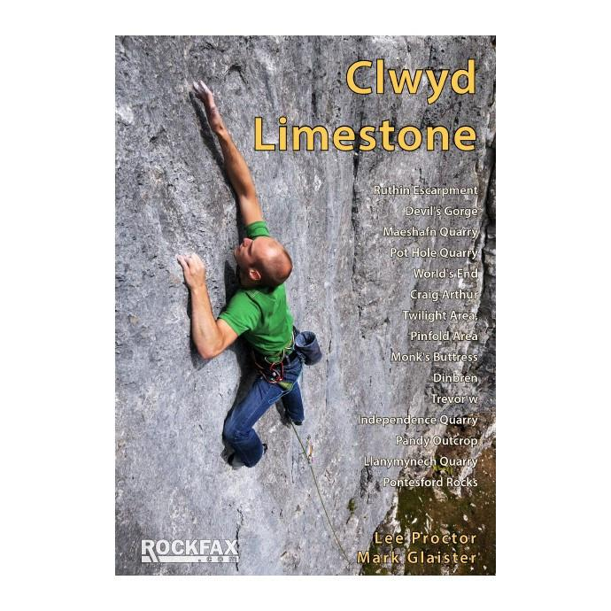 Clwyd Limestone Rockfax climbing guidebook, front cover