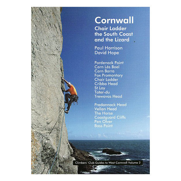 Cornwall: Chair Ladder and the South Coast climbing guidebook, front cover