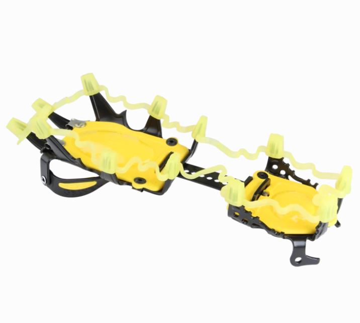 Grivel Crampon Crown shown in use on the crampon. In yellow colour.
