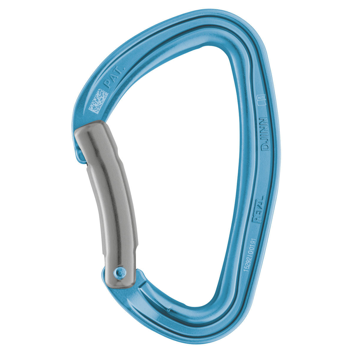Petzl Djinn Carabiner in Blue colour with a Grey gate