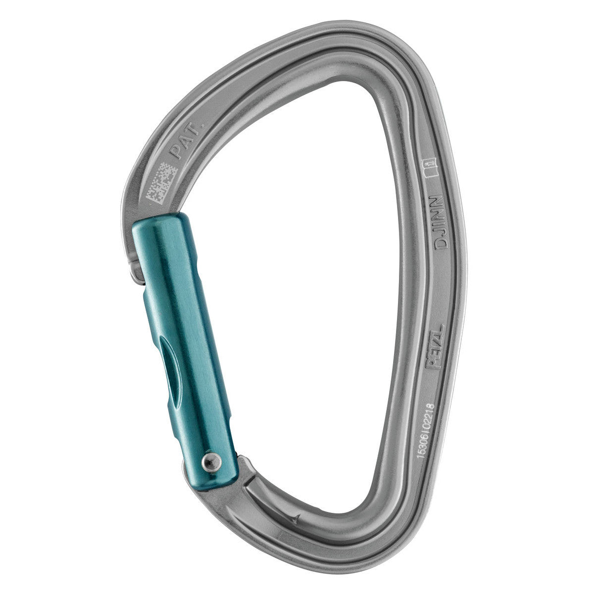 Petzl Djinn Carabiner in silver colour with blue gate