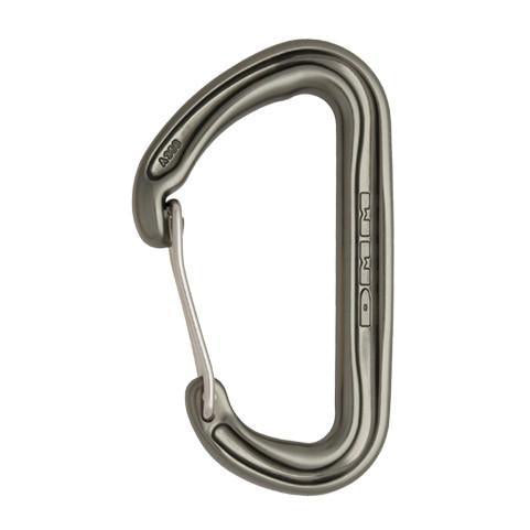 DMM Spectre 2 climbing carabiner, in gun metal grey colour
