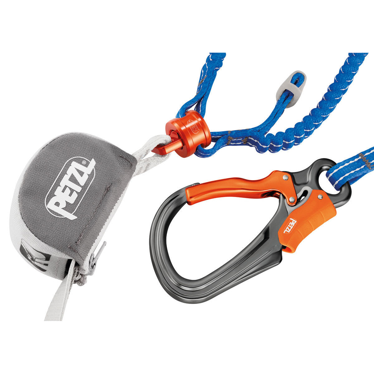 Petzl Scorpio Eashook in Blue & Orange