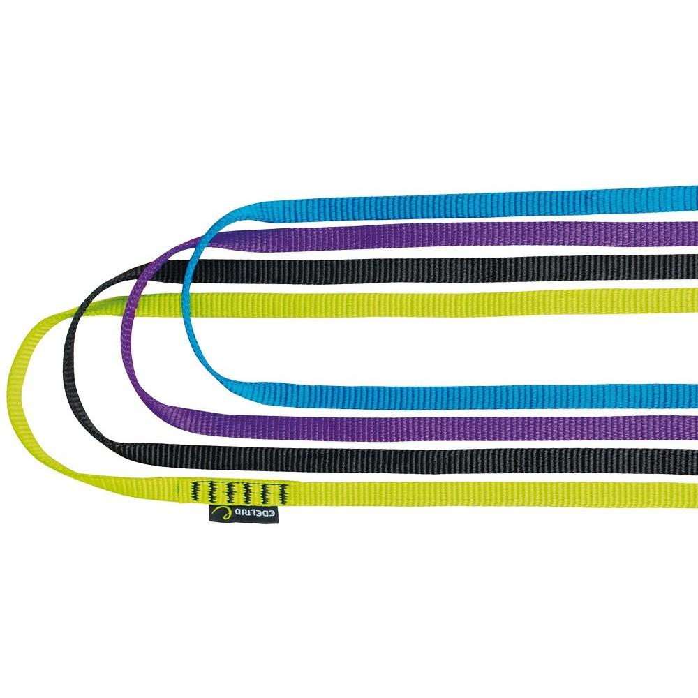 Edelrid Tech Web climbing Slings 12mm x 240cm, showing 4 colours
