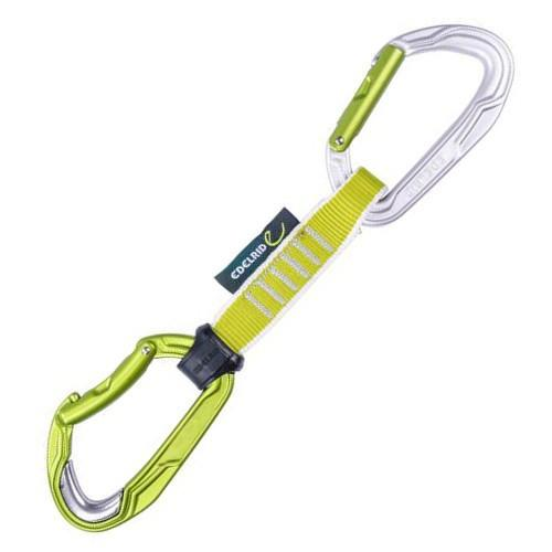 Edelrid Bulletproof climbing Quickdraw 12cm, yellow sling with Grey/Silver carabiners