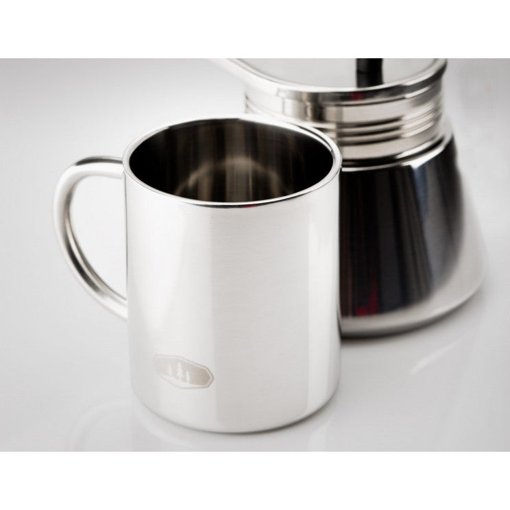 GSI Mini Espresso Set 4 Cup, showing cup next to the pot