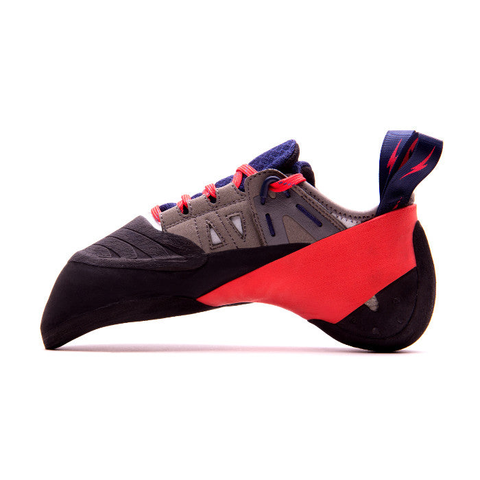 Evolv Oracle climbing shoe, view from the side