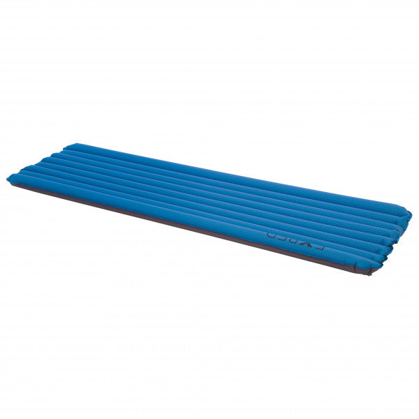 Exped Airmat Lite 5 sleeping mat shown inflated in blue colour