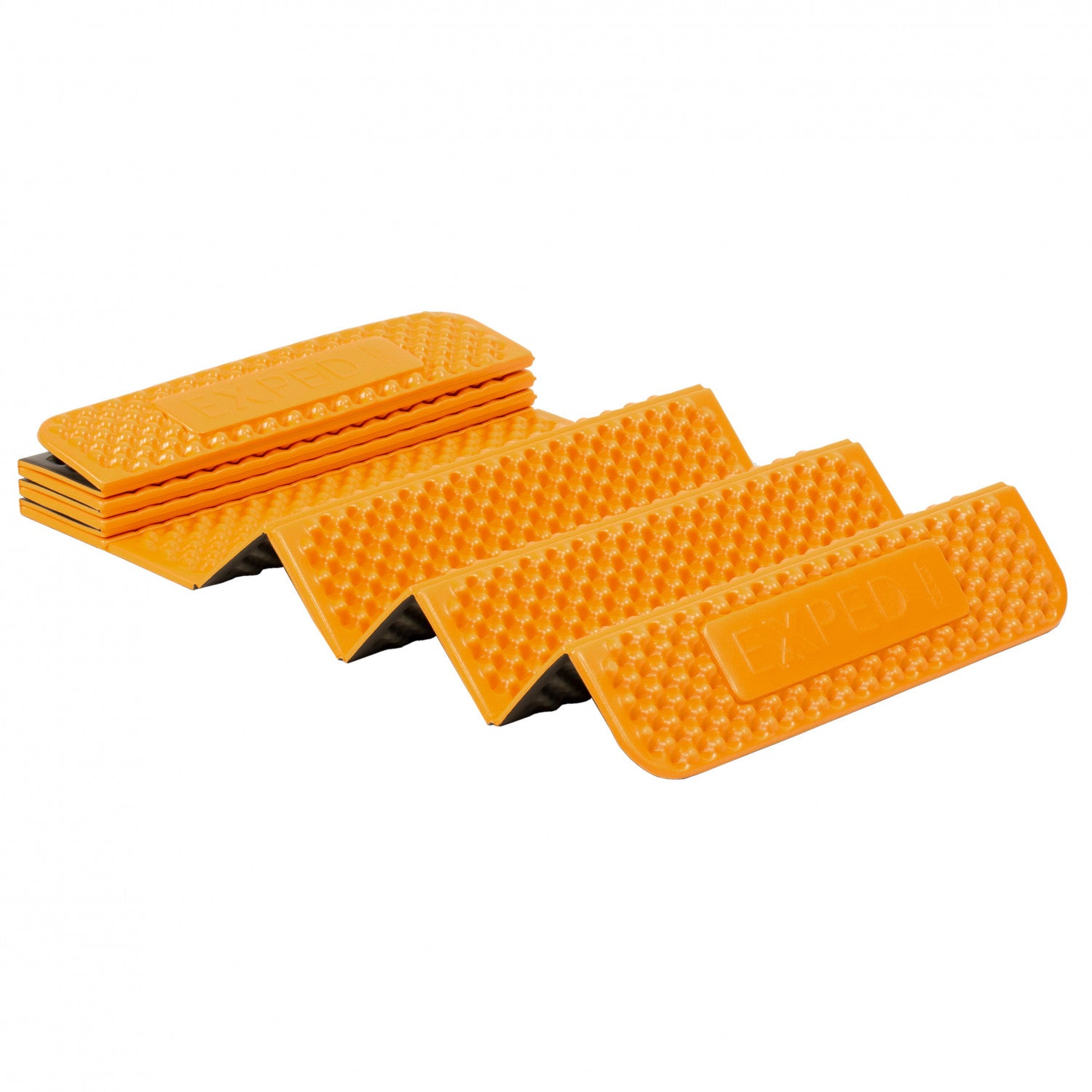 Exped FlexMat folding sleeping mat in orange colour