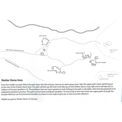 Fairhead Bouldering, example inside pages showing maps