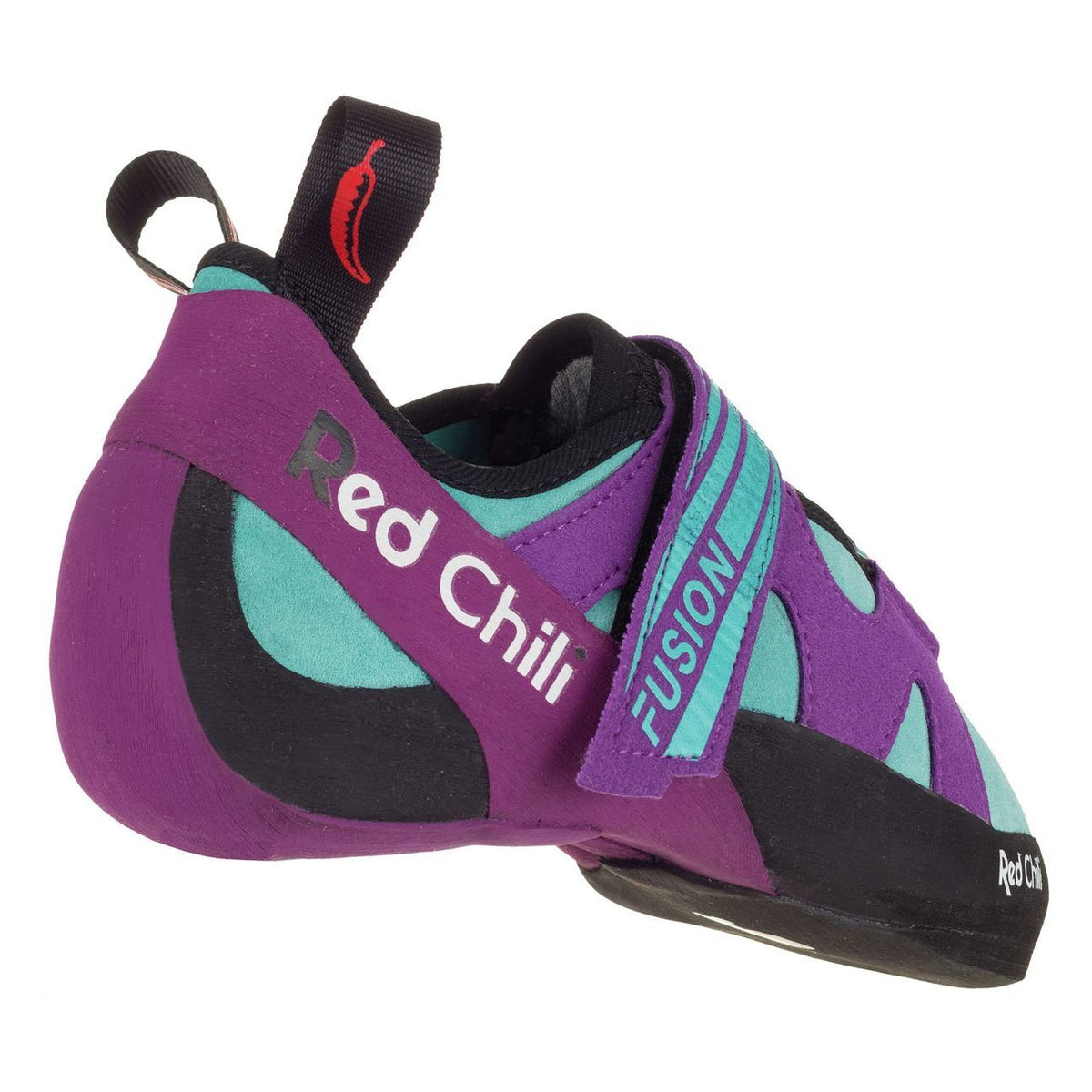 Red Chili Fusion VCR Womens climbing shoe, view from rear outer side