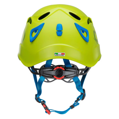 Climbing Technology Galaxy climbing helmet, rear view showing back of the helmet