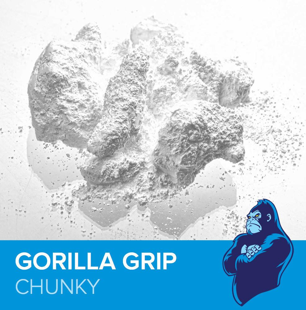 FrictionLabs Gorilla Grip climbing chalk, showing chalk blend and logo